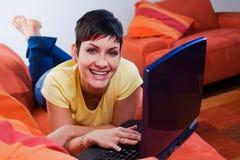 Computer at home Stock Photos