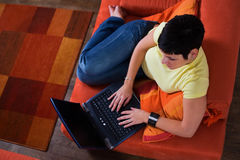 Computer at home Royalty Free Stock Image