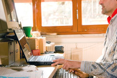 Computer at home Stock Photography