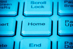 Computer home key Royalty Free Stock Photo