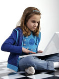 Computer homework Royalty Free Stock Photos