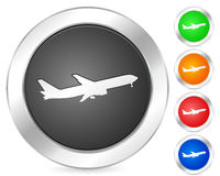 Computer icon airplane Royalty Free Stock Photography