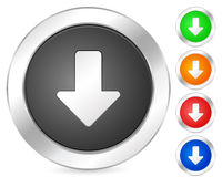 Computer icon arrow down Stock Photography