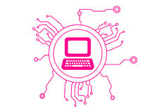 Computer Icon Circuit Stock Images