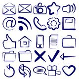 Computer Icon Collection symbols vector Royalty Free Stock Image