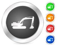 Computer icon excavator Royalty Free Stock Photo