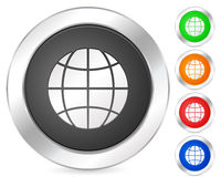 Computer icon globe Royalty Free Stock Photography