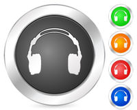 Computer icon headphone Stock Images