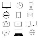 Computer icon illustration on white Stock Photo