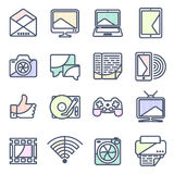 Computer  icon in linestyle Royalty Free Stock Photography