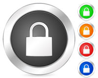 Computer icon padlock Stock Photos
