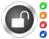 Computer icon padlock open Royalty Free Stock Images