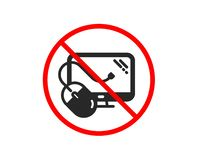 Computer icon. PC mouse component sign. Monitor symbol. Vector stock illustration