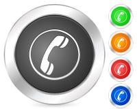 Computer icon phone. Computer circle icon set. Vector illustration