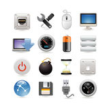 Computer icon set Royalty Free Stock Image