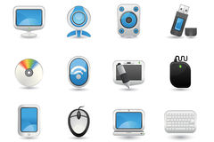 Computer icon set Royalty Free Stock Photos