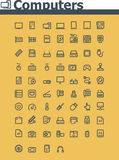Computer icon set Stock Photos