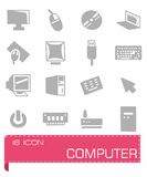 Computer icon set. On background Royalty Free Stock Image