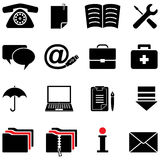 Computer icon set (black and white colors) Royalty Free Stock Photos