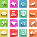 Computer Icon Set Stock Image