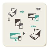 Computer icon set stock illustration