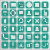 Computer Icon Set Origami Style Royalty Free Stock Image