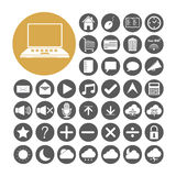 Computer Icon set vector illustration Royalty Free Stock Photography