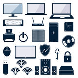 Computer icon. Set. Vector illustration Royalty Free Stock Images