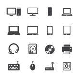Computer icon set Royalty Free Stock Image