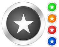 Computer icon star Stock Photography