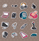 Computer icon stickers Royalty Free Stock Photography