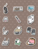 Computer icon stickers Stock Photography