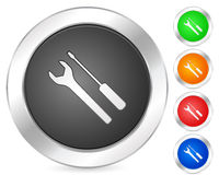 Computer icon tools Royalty Free Stock Images