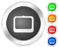 Computer icon tv Stock Image