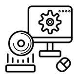 Computer icon vector royalty free illustration