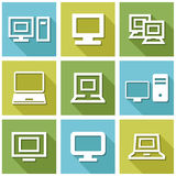 Computer icon vector Royalty Free Stock Photo