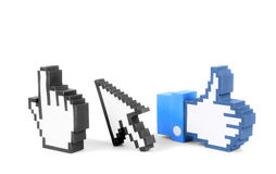 Computer icons. Set of computer and internet icons made of papercraf Royalty Free Stock Image