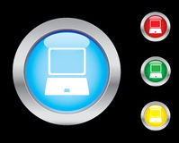 Computer icons. Computer glass button icons. Please check out my icons gallery Stock Photo