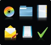 Computer icons. Set of glossy computer icons Stock Photos