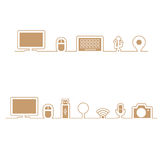 Computer icons align in line Royalty Free Stock Photo