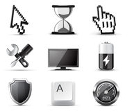 Computer icons | B&W series Royalty Free Stock Photography
