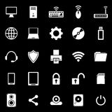 Computer icons on black background Stock Photography