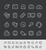 Computer Icons // Black Line Series Royalty Free Stock Image