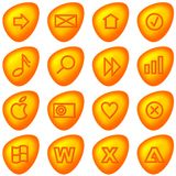 Computer icons / buttons. Set of 16 computer and web icons or buttons Stock Photography