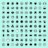 Computer icons and buttons. Computer icons and button vector Royalty Free Stock Photography