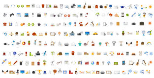 Computer icons and buttons. Color Stock Photos