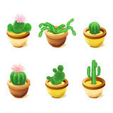Computer icons, cactus. Set of computer icons, cactus Royalty Free Stock Photography