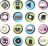 Computer icons in the circle Stock Photography