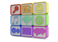 COMPUTER ICONS - 3D Royalty Free Stock Photos