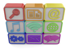 Computer icons - 3D Royalty Free Stock Photography